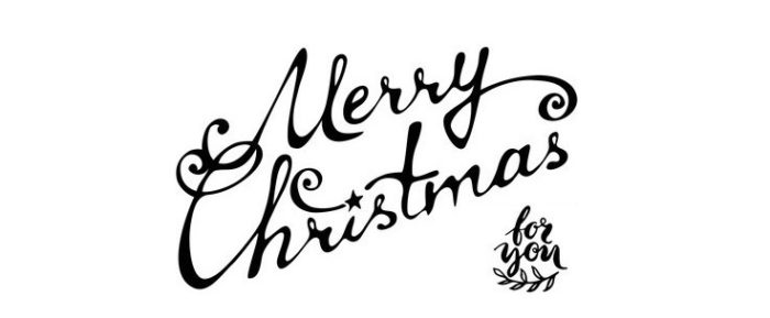 Hand-written text. Vector illustration for your design. Christmas template.