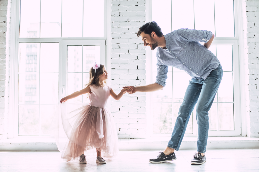 zabawy ojca z córką